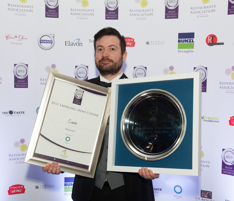 344 - Conor Lynch from Loam - Best Emerging Irish Cuisine Ireland - Irish Restaurant Awards 2015